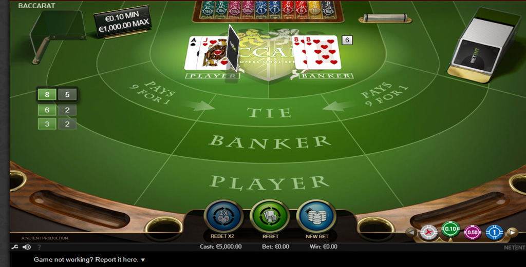 Tips For Playing Baccarat Like A Pro