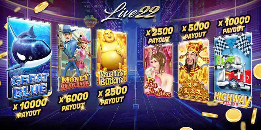 Register Live22 Casino | 100% Welcome Bonus